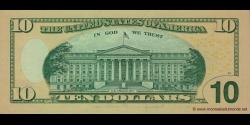 Etats Unis d'Amérique - p532 - 10 Dollars - 2009 - Federal Reserve System