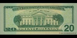 Etats Unis d'Amérique - p533 - 20 Dollars - 2009 - Federal Reserve System