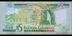 Grenade - p42g - 5 Dollars - ND (2003) - Eastern Caribbean Central Bank