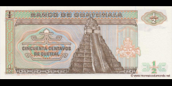 Gatemala - p065 - 50 Centavos de Quetzal - 06.02.1988 - Banco de Guatemala