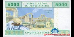 Cameroun - P209U - 5 000 Francs - 2002 - Banque des États de l'Afrique Centrale