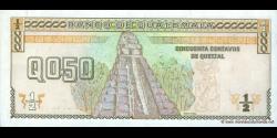 Gatemala - p098 - 50 Centavos de Quetzal - 09.01.1998 - Banco de Guatemala