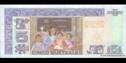 Gatemala - p106a - 5 Quetzales - 12.02.2003 - Banco de Guatemala