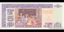 Gatemala - p106b - 5 Quetzales - 22.11.2006 - Banco de Guatemala