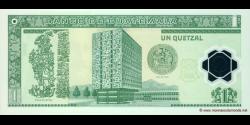 Gatemala - p109 - 1 Quetzal - 20.12.2006 - Banco de Guatemala