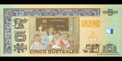 Gatemala - p116 - 5 Quetzales - 12.03.2008 - Banco de Guatemala