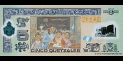 Gatemala - p122a - 5 Quetzales - 19.05.2010 - Banco de Guatemala