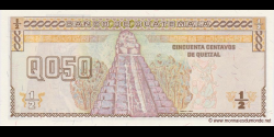 Gatemala - p096 - 50 Centavos de Quetzal - 28.08.1996 - Banco de Guatemala