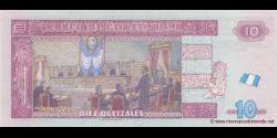 Gatemala - p123a - 10 Quetzales - 19.05.2010 - Banco de Guatemala