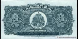 Haïti - p254 - 2 Gourdes - 1990 - Banque de la République d'Haïti