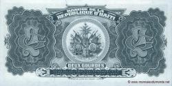 Haïti - p260 - 2 Gourdes - 1992 - Banque de la République d'Haïti