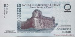 Haïti - p272d - 10 Gourdes / Goud - 2010 - Banque de la République d'Haïti / Bank Repiblik Dayiti