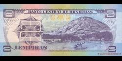 Honduras - p080Ad - 2 Lempiras - 23.01.2003 - Banco Central de Honduras