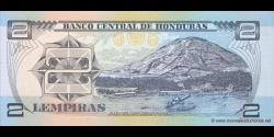 Honduras - p080Ag - 2 Lempiras - 17.04.2008 - Banco Central de Honduras