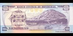 Honduras - p080Ah - 2 Lempiras - 06.05.2010 - Banco Central de Honduras