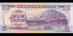 Honduras - p080Ae - 2 Lempiras - 24.08.2004 - Banco Central de Honduras