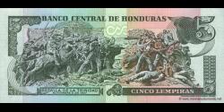 Honduras - p085a - 5 Lempiras - 14.12.2000 - Banco Central de Honduras