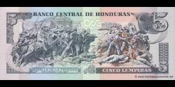 Honduras - p091b - 5 Lempiras - 14.08.2008 - Banco Central de Honduras