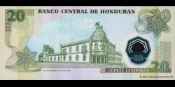 Honduras - p095b - 20 Lempiras - 31.07.2008 - Banco Central de Honduras