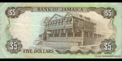 Jamaïque - p70d - 5 Dollars - 01.08.1992 - Bank of Jamaica