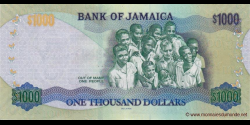 Jamaïque - p92 - 1.000 Dollars - 06.08.2012 - Bank of Jamaica