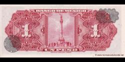 Mexique - p059k - 1 Peso - 27.08.1969 - Banco de México S.A.