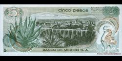 Mexique - p062b - 5 Pesos - 27.10.1971 - Banco de México S.A.
