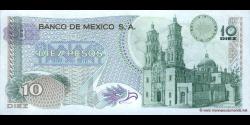 Mexique - p063h - 10 Pesos - 15.11.1975 - Banco de México S.A.