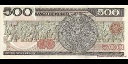 Mexique - p079b - 500 Pesos - 07.08.1984 - Banco de México