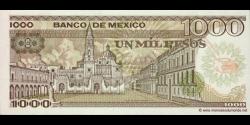 Mexique - p085 - 1.000 Pesos - 19.07.1985 - Banco de México