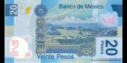 Mexique - p122bA - 20 Pesos - 19.06.2006 - Banco de México