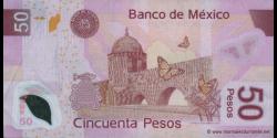 Mexique - p123bB - 50 Pesos - 07.09.2005 - Banco de México