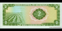 Nicaragua - p121a - 2 Córdobas - D. 27.04.1972 - Banco Central de Nicaragua