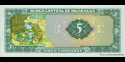 Nicaragua - p122 - 5 Córdobas - D. 27.04.1972 - Banco Central de Nicaragua