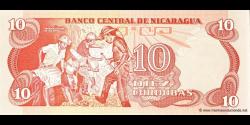 Nicaragua - p134 - 10 Córdobas - D. 16.08.1979 - Banco Central de Nicaragua