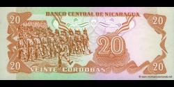 Nicaragua - p135 - 20 Córdobas - D. 16.08.1979 - Banco Central de Nicaragua