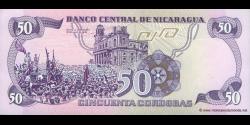 Nicaragua - p140 - 50 Córdobas - D. 06.08.1984 - Banco Central de Nicaragua