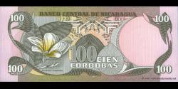 Nicaragua - p141 - 100 Córdobas - D. 06.08.1984 - Banco Central de Nicaragua