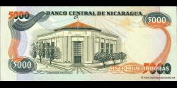 Nicaragua - p146 - 5.000 Córdobas - Res. 11.06.1985 - Banco Central de Nicaragua
