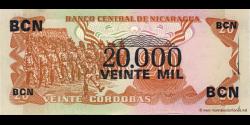 Nicaragua - p147 - 20.000 Córdobas - Res. 06.08.1987 - Banco Central de Nicaragua