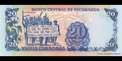 Nicaragua - p152 - 20 Córdobas - 1985 - Banco Central de Nicaragua