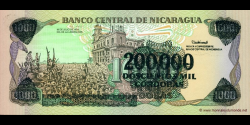 Nicaragua - p162 - 200.000 Córdobas - 1985 (1990) - Banco Central de Nicaragua