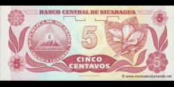 Nicaragua - p168b - 5 Centavos de Córdoba - ND (1991) - Banco Central de Nicaragua