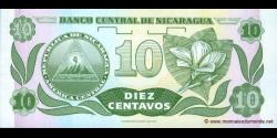 Nicaragua - p169b - 10 Centavos de Córdoba - ND (1991) - Banco Central de Nicaragua