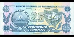 Nicaragua - p170a - 25 Centavos de Córdoba - ND (1991) - Banco Central de Nicaragua