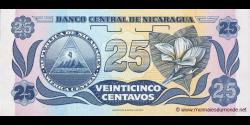 Nicaragua - p170b - 25 Centavos de Córdoba - ND (1991) - Banco Central de Nicaragua