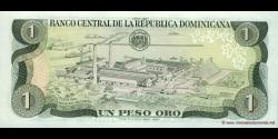 République Dominicaine - p126b - 1 Peso Oro - 1987 - Banco Central de la República Dominicana