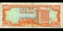 République Dominicaine - p136a - 100 Pesos Oro - 1991 - Banco Central de la República Dominicana