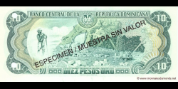République Dominicaine - p153S - 10 Pesos Oro - 1996 - Banco Central de la República Dominicana