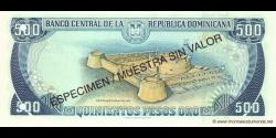 République Dominicaine - p157S - 500 Pesos Oro - 1996 - Banco Central de la República Dominicana